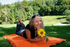 Proteja a flor do parque Fotos de Stock