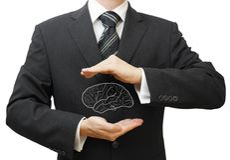 Proteja ideias do negócio, conhecimento, dados e conceito dos direitos reservados fotografia de stock royalty free
