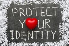 Proteja la identidad Imagen de archivo libre de regalías