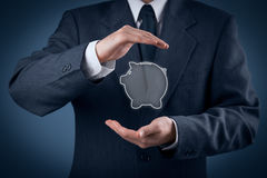 Proteja los ahorros financieros Foto de archivo libre de regalías