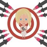 Proteja los niños y la niñez contra el horror de la guerra libre illustration