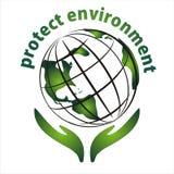 Proteja o ícone do ambiente Fotografia de Stock Royalty Free