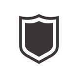 Proteja o ícone no estilo liso na moda no fundo branco Vector a ilustração, EPS10 Imagens de Stock