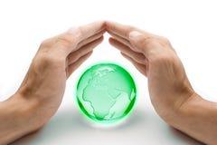 Proteja o conceito da terra imagem de stock