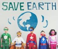Proteja o conceito do planeta da natureza da terra das economias Imagens de Stock Royalty Free