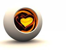 Proteja o coração ilustração stock