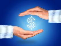 Proteja o dinheiro fotografia de stock royalty free