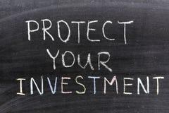 Proteja o investimento fotos de stock