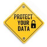 Proteja seu cartaz super do negócio do sumário da qualidade dos dados ilustração stock