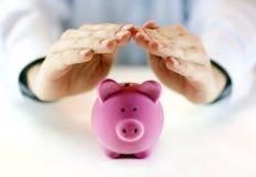 Proteja su dinero Imagen de archivo libre de regalías