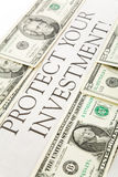 Proteja su inversión Imagen de archivo libre de regalías