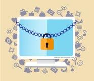 Proteja su ordenador Foto de archivo