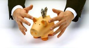 Proteja sus ahorros Imagen de archivo libre de regalías