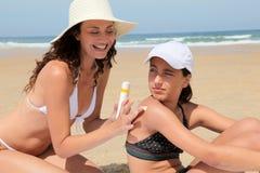 Proteção de Sun Fotografia de Stock