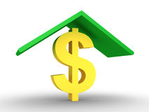 Proteção do dólar Imagens de Stock Royalty Free