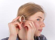 Protesi acustica fotografia stock
