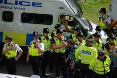 Protest 28/08/10 Bradford-EDL Stockbild
