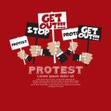 Protest. Lizenzfreies Stockfoto