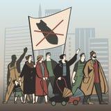 Protest2 stock de ilustración