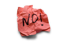 Protest. No, protest on paper note stock photo