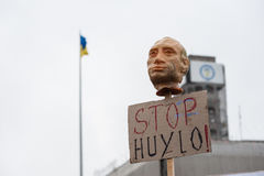 Protest Action `Stop Putin - Stop War` at the Independence Square in Kyiv Stock Photos