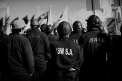 The Protest Action-of strike of Silesian miners Stock Photo