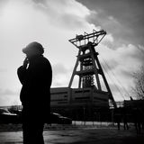 The Protest Action-of strike of Silesian miners Stock Image