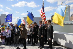 Protest agains Crimea's invasion Royalty Free Stock Photography