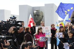 Protest agains Crimea's invasion Royalty Free Stock Image