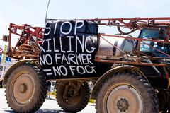 Protest agains killing farmers in South Africa. Http://ewn.co.za/2017/10/30/protesters-march-against-farm-murders-in-wc Stock Photography