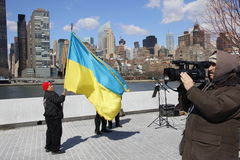 Protest agains Krim Invasion Stockbild