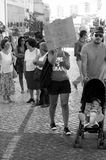 Protest against austerity - Loule Royalty Free Stock Images