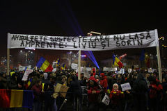 Protest against corruption and Romanian Government Royalty Free Stock Photography