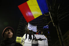 Protest against corruption and Romanian Government Royalty Free Stock Photos