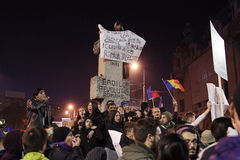 Protest against coruption and Romanian Government Royalty Free Stock Images