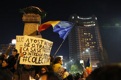 Protest against coruption and Romanian Government Stock Images