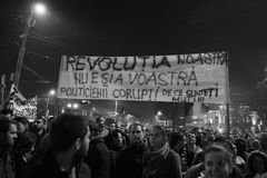 Protest against coruption and Romanian Government Stock Photo