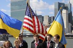 Protest against Crimea's invasion Stock Images