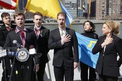 Protest against Crimea's invasion Stock Photo