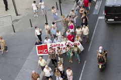 Protest against cuts in public health Stock Photos