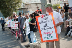 Protest Against East Jerusalem Settlements Stock Photos