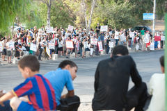 Protest Against East Jerusalem Settlements Royalty Free Stock Image