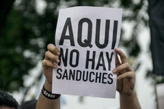 Protest against Ecuador Government Stock Images