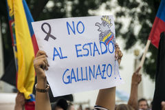 Protest against Ecuador Government Stock Image
