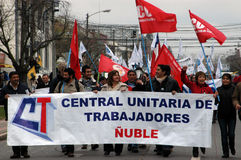 Protest against education reform in Chile Stock Photo