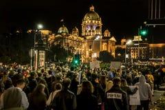 Protest against election of premier Aleksandar Vucic as president, Belgrade Stock Photography