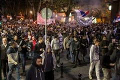 Protest against election of premier Aleksandar Vucic as president, Belgrade Stock Images