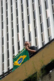 Protest against federal government in Brazil Royalty Free Stock Photography