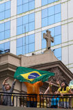 Protest against federal government Brazil Royalty Free Stock Image