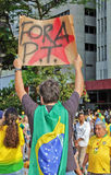 Protest against federal government corruption in Brazil Royalty Free Stock Images